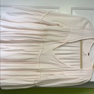 White/ cream free people 3/4 sleeved blouse